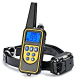 Dog Training Collar, JIAXIN Rechargeable and Rainproof Dog Shock Collar 2624 Ft Range Remote with Beep,Vibration and Shock Electronic Collar for Puppy, Small, Medium and Large Dogs