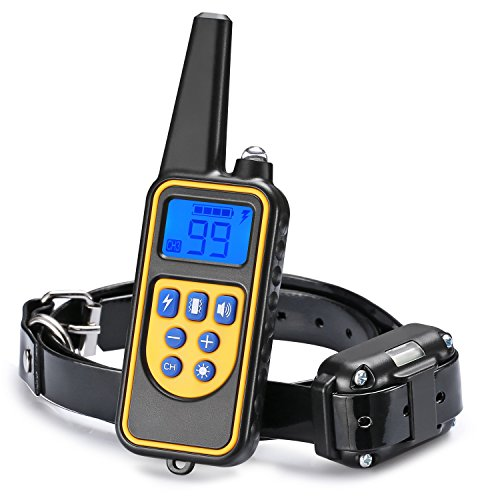 Dog Training Collar, JIAXIN Rechargeable and Rainproof Dog Shock Collar 2624 Ft Range Remote with Beep,Vibration and Shock Electronic Collar for Puppy, Small, Medium and Large Dogs by JIAXIN