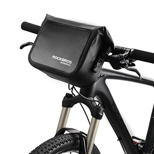 RockBros Fahrrad Lenkertaschen Satteltaschen Umhängetaschen Völlig Wasserfeste Fahrradtasche Lenker Taschen Kapazität 3-4L