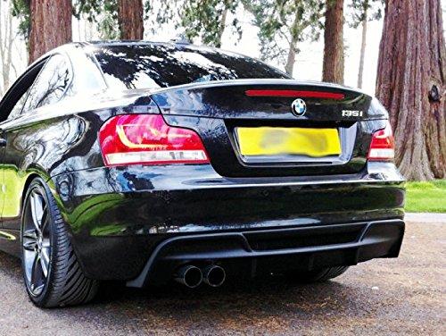 47771ffee06 Carbon Fiber For BMW E82 E88 1 Series Rieger Style Rear Diffuser(Fit E82 2  Door Coupe E88 2 Door convertible - Sports Model)  Amazon.co.uk  Car    Motorbike
