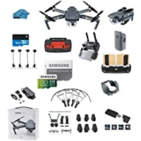 DJI Mavic PRO Portable Collapsible Mini Racing Drone with 32GB SD Card + 3.0 Card Reader, Landing Gear, Prop Guards and More