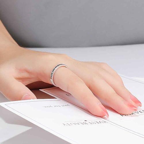 Amazon.com: Nosotros rápido anillos de plata para mujer con ...