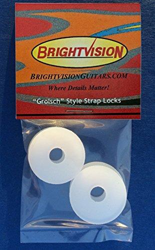 TRANSLUCENT Rubber Guitar Strap Locks - Grolsch Style - Clas