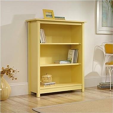 Sauder Original Cottage Bookcase, Melon Yellow Finish