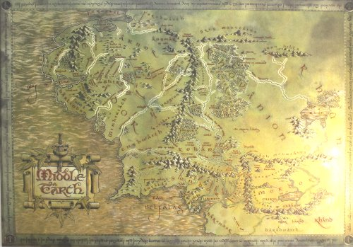 Amazon The Lord Of The Rings The Hobbit Map Of Middle – The Map of Middle Earth