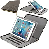 Wdibetter Samsung Tablet Case, 9-10 inch PU Leather Cover with 360 Degree Stand Executive Portfolio Zipper Pocket For Samsung ipad