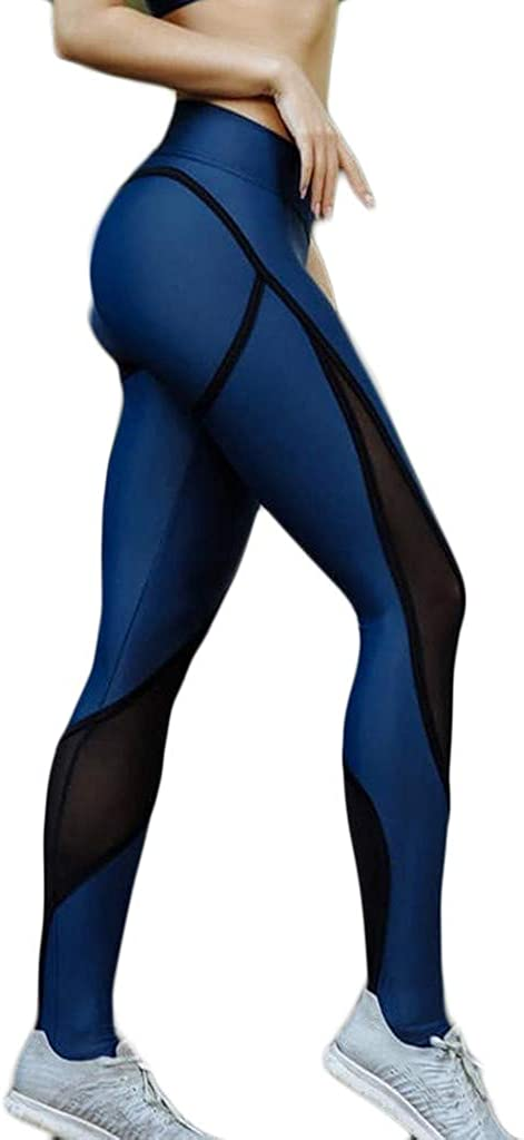 Yoga Pants High-Waist Trousers for Women Lace Breathable Hip Lifting Exercise Running Stitching Hollow Tight Pants