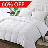DECROOM White Comforter Set Full Queen Size, 2 Bonus Pillow Shams,Down Alternative Quilted Duvet Insert,3M Moisture-wicking Treament,Light Weight Soft and Hypoallergenic for All Season Blanket