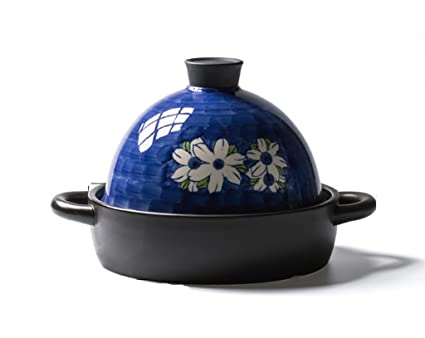 HGNsg Batería de Cocina Cazuela Pintada a Mano Taji Pot Fuego Abierto Cazuela de cerámica de