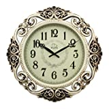 Cheap Wall clock European Style Living Room Wall Clock Watch Clock Quartz Clock 20 Inch,Antique Silver