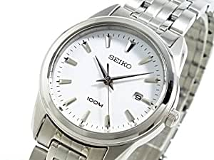 Seiko Women's White Dial Stainless Steel Band Watch [SXDE61P1]
