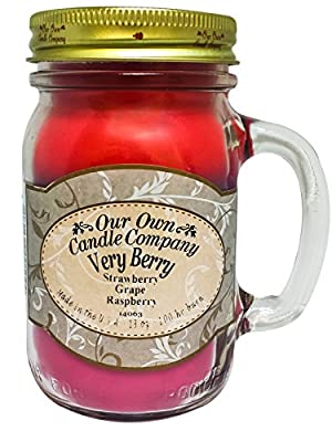 Very Berry Scented 13 Ounce Mason Jar Candle By Our Own Candle Company