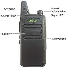 Walkie Talkies Radtel RT-10 Outdoor Camping Hiking Hunting WLN KD-C1 Mini Walkie Talkies 5-10 Miles Range Micro Usb rechargeable Amateur Two Way Radio