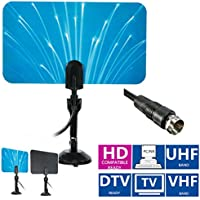 Digital Indoor TV Antenna UHF/VHF/HDTV/DTV 5dbi Box Ready HD Flat Design High Gain