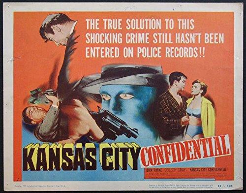 - KANSAS CITY CONFIDENTIAL JOHN PAYNE FILM NOIR PULP ART 1952 TITLE CARD