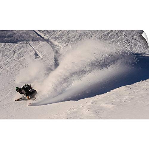 (CANVAS ON DEMAND Sean Sullivan Wall Peel Wall Art Print Entitled Pat A Riding Powder at Mt Baker 36