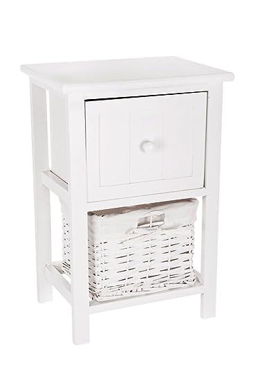 Amazon.com: livivo blanco estilo Shabby Chic mesa mesita de ...