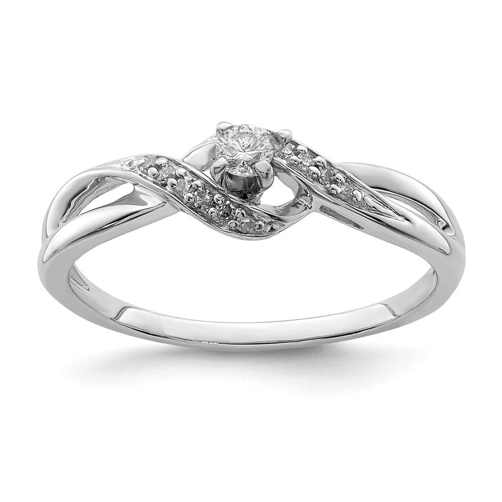 Beautiful Sterling silver 925 sterling Sterling Silver Rhodium Diam. Promise Ring