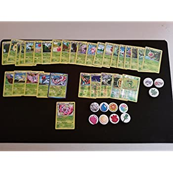 Amazon.com: 25 GRASS Pokemon Cards Lot with 5 FOILS, 5 RARES ...