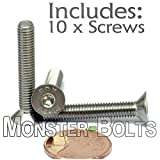 (10) M5-0.80 x 30mm (FT) - Stainless Steel Flat
