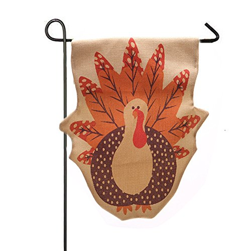 Garden Flag Indoor Outdoor Home Decor Wensltd Thanksgiving Turkey Pattern