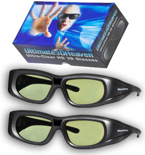 2 Ultra-Clear 3D Glasses for Panasonic 3D Televisions Rechargeable 2011 & Prior (IR)