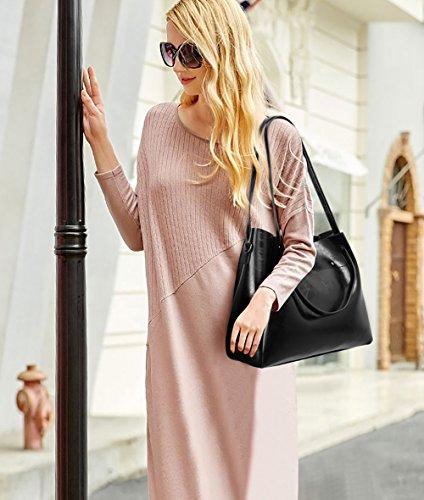 bag donna Tisdaini set da Nero nuovo secchio di borsa moda PU 2018 4 olio borsetta femminile Messenger qwqApgxZ