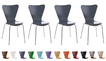 Manger CLP Piètement de Chaise à 4 Chaise Moderne Visiteur Zone d'Attente Salle Chaises pour ou et Stable Chromé Set Solide Calisto Ergonomique XZwPNk8n0O