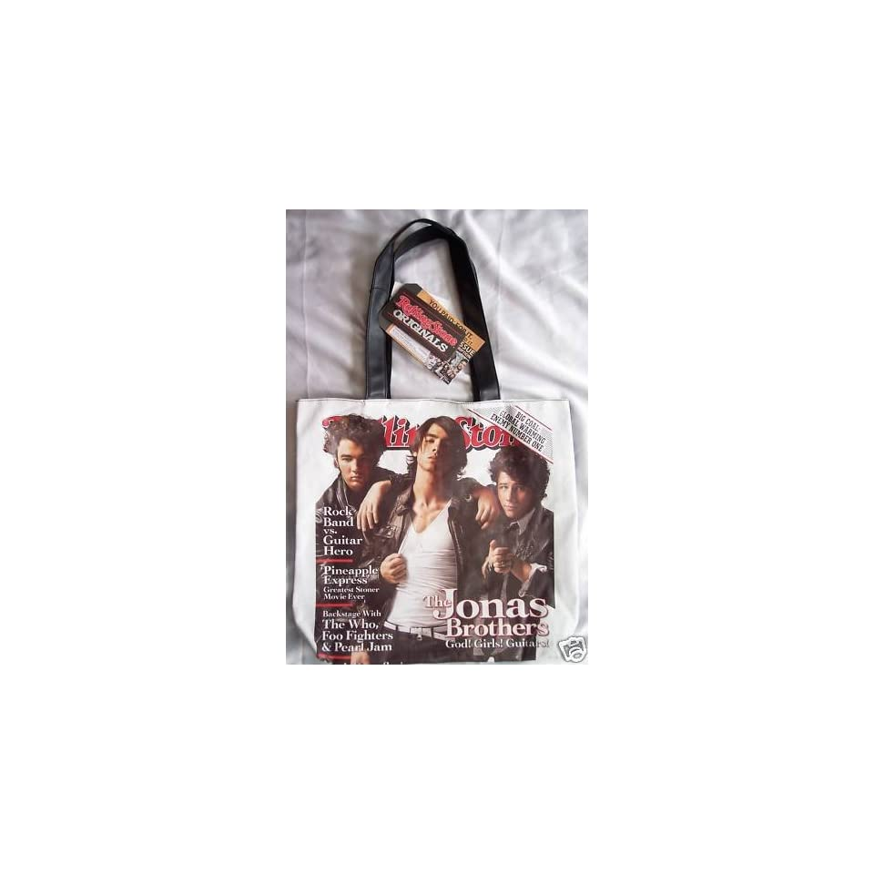 Rolling Stone magazine cover tote bag purse   Jonas Brothers