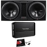 Rockford Fosgate P3-2X12 Dual 12 2400W Subwoofer+Enclosure+P1000X1BD Amplifier