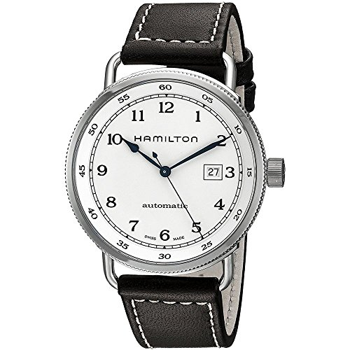 Hamilton-Khaki-Navy-Pioneer-Silver-Dial-SS-Leather-Automatic-Men-Watch-H77715553
