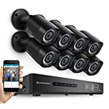 Amcrest Eco-HD 1080P (1920 TVL) 8CH Video Security System w/ Eight 2.0 Megapixel IP67 Weatherproof Bullet Cameras...