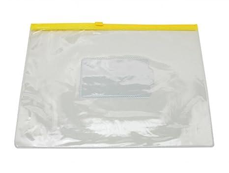 Papeleria Fina Diez Piezas Clear Vinyl A5 Carpetas de Archivos Titular de la Bolsa Cremallera Carteras