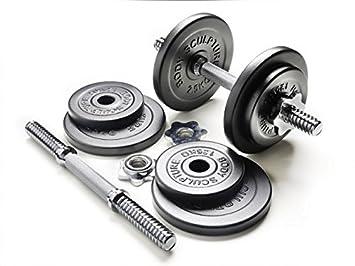 Juego de pesas cortas de hierro - Total: 18 kg 14 piezas 4 x 2,5 y ...