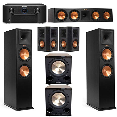 Klipsch RP-280FA 5.2.2 Dolby Atmos System with SR7012 and RP-502S Surrounds
