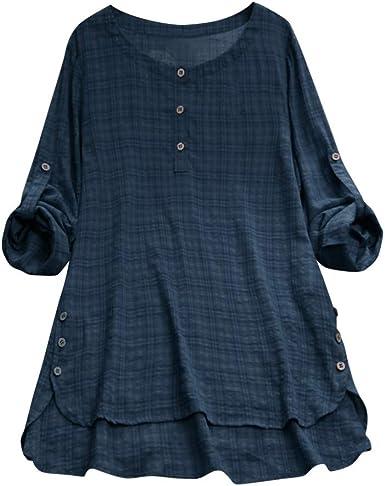 Slyar Camisetas Mujer Tallas Grandes Camisa A Rayas De Gran TamañO ...