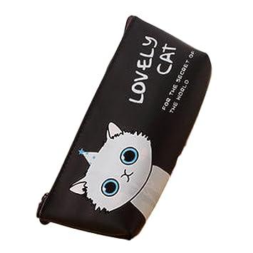 Vi.yo Estuche Para Lápices Estuche de Lápices Modelo Gatito de Gatos Bolso de Maquillaje Para Los Estudiantes y Empleado de Oficina: Amazon.es: Hogar