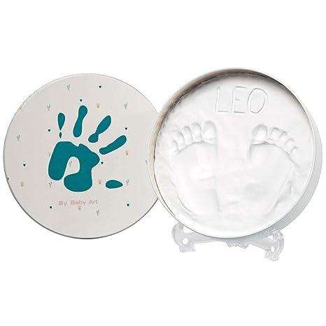 Baby ArtMagic Box, Essential Round, elegante caja de regalo con huella de yeso para