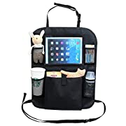 AutoMuko Car Organizer by iPad and Tablet Holder with Car Seat Organizer - Touch Screen Pocket for Android & iOS Tablets up to 9.5  -With One-year Limited Warranty