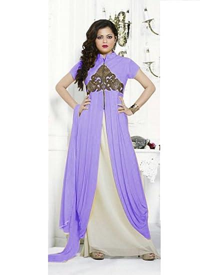7662d3ac2166 Buy Gopinath Retailers Drashti Dhami Designer New purple Salwar Suit online   Amazon.in  Clothing   Accessories