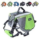 Wellver Dog Backpack Saddle Bag Travel Packs for Hiking Walking Camping,Large