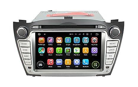 BlueLotus 17,78 cm Android 4,4,4, DVD para coche de navegación GPS ...