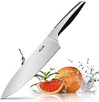 Cuchillos Cocina, Aicok Cuchillo de Cocina para Chef de 8 Pulgadas con Cuchilla Afilada de Acero Inoxidable y Mango Ergonómico