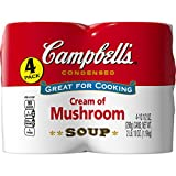 Campbell's Condensed Soup, Cream of Mushroom, 10.7 Ounce (Pack of 4)