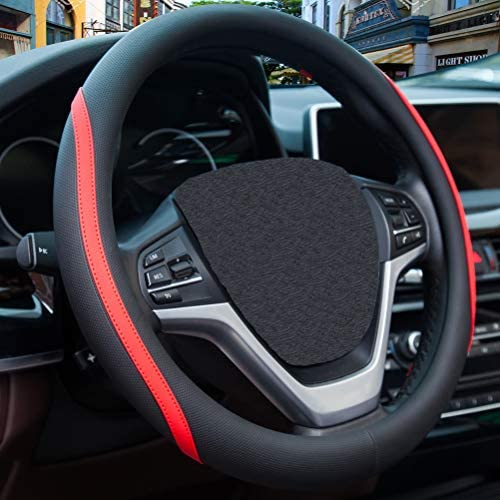 Microfiber Leather Steering Wheel Cover product image