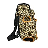 YOADHAOD Pet Carrier Backpack, Denim Front Kangaroo Pouch Dog Carrier,Adjustable Pet Front Cat Dog Carrier Backpack Travel Bag, Legs Out, Easy-Fit for Walking,Travel,Hiking,Camping (M, Yellow)