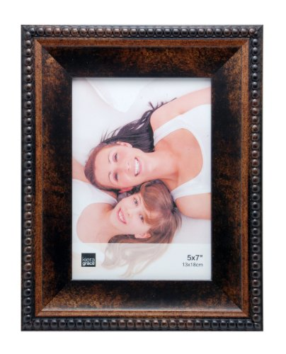 Bronze Table Lamp Framed Art - Kiera Grace Sydney Picture Frame, 5 by 7-Inch, Antique Bronze