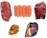 Exotic Meat BBQ Gift Box - 5 Different Exotic Meats - Combo Pack - Perfect For Barbecue Season - Great Gift For Men - BBQ Gift