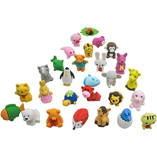 TOAOB 20pcs Adorable Puzzle Animals Erasers for Kids Fun Games and Collection