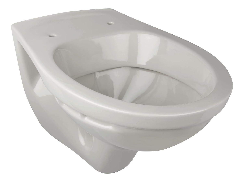 Calmwaters 99000202 Komplettset in Manhattan-Grau aus Wand-WC Toilettendeckel und 60 cm gro/ßen Waschbecken